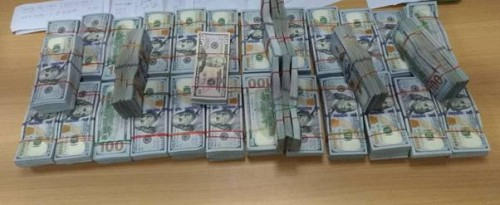 confiscated foreign currency