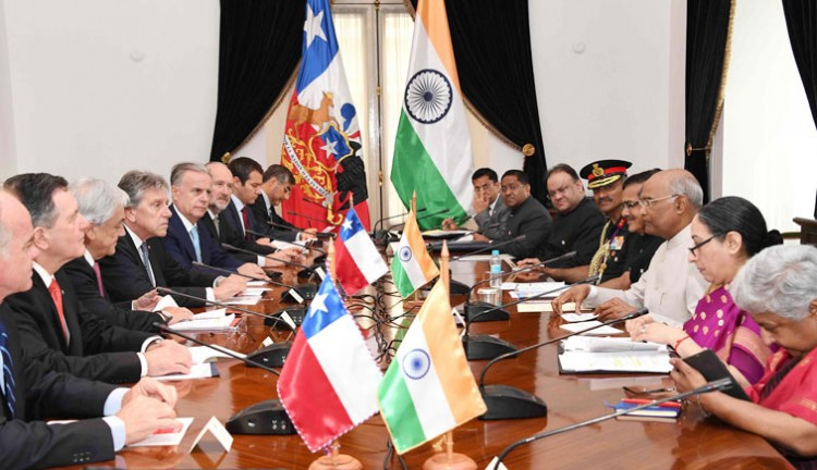 delegation level talks between india and republic of chile