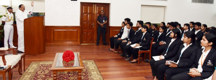 vice president interaction with law students from bangalore