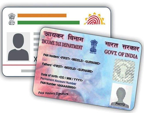 aadhaar card linked with pan
