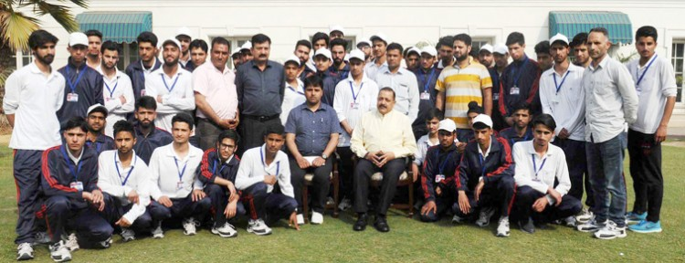 dr. jitendra singh with school and college students from north kashmir