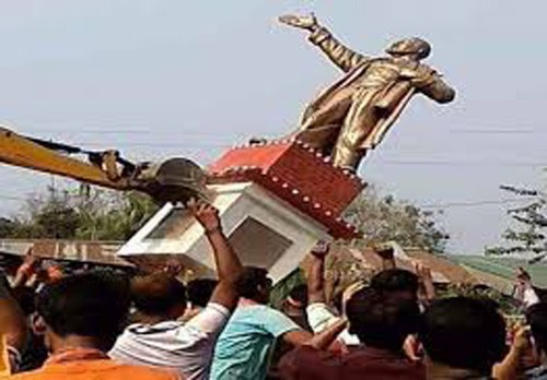 sculpture incident in tripura