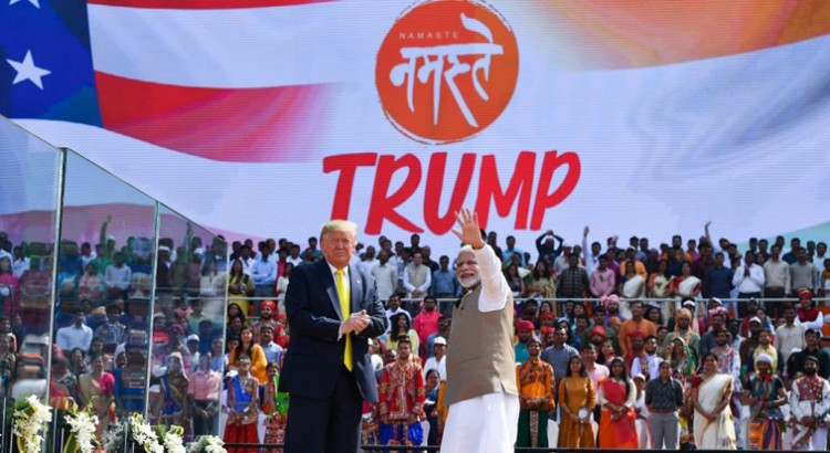 namasteytrump event at motera stadium