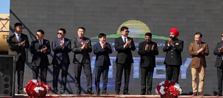 dharmendra pradhan attends commissioning ceremony in mongolia