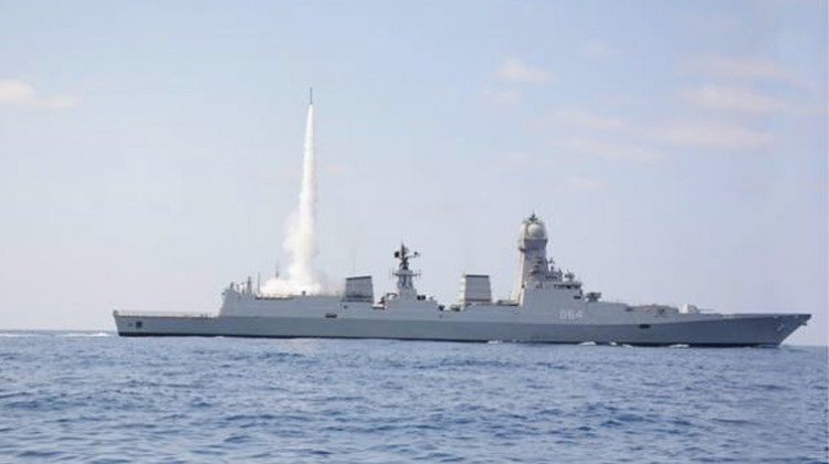navy's first missile firing practice successful