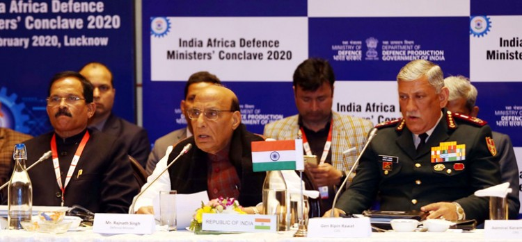 rajnath singh addressing the first india-africa defence ministers' conclave 2020