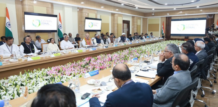 amit shah chairing the 24th meeting of the eastern zonal council