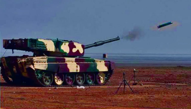 arjun tank fired laser guided missile