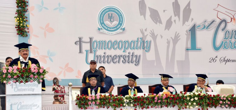 first convocation of homeopathy university, jaipur