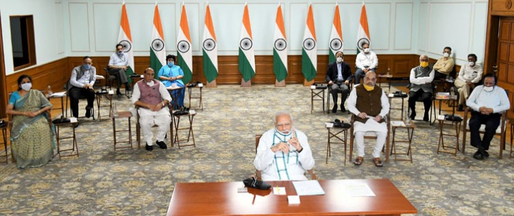 video conference with chief ministers of prime minister narendra modi