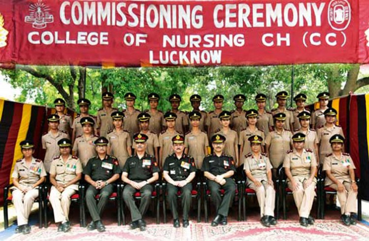 commissioning ceremony held at college of nursing, command hospital