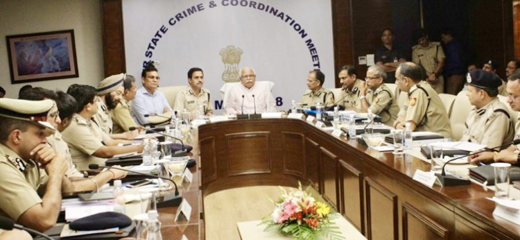coordination meeting of four border states in gurgaam