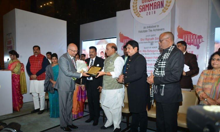 dgp up op singh honored by mother foundation lko