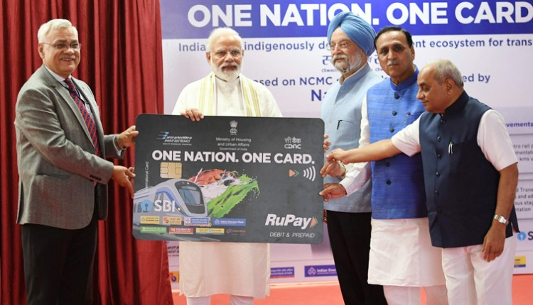 narendra modi launching the one nation, one card for transport mobility