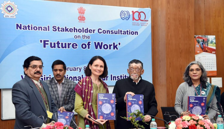 santosh kumar gangwar inauguration of the centenary celebration of international labour organisation