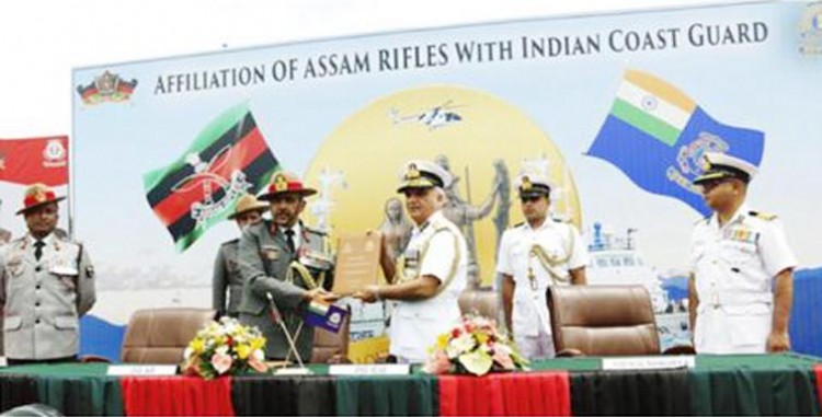 agreement between assam rifles and indian coast guard