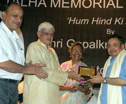 gopalakrishna gandhi honored journalist vinod dua and harish khare