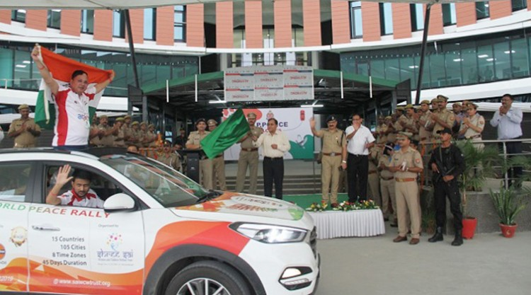 dgp op singh flagged off the world peace rally