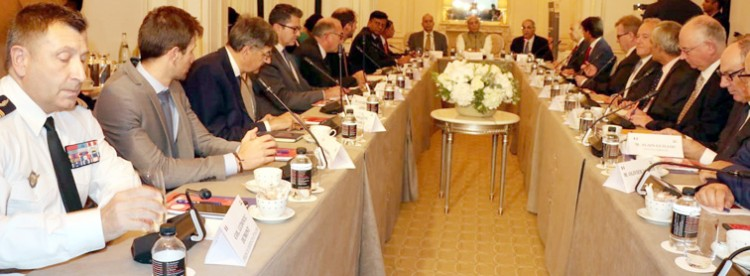 rajnath singh meeting with the chief executive officers of french defence industries