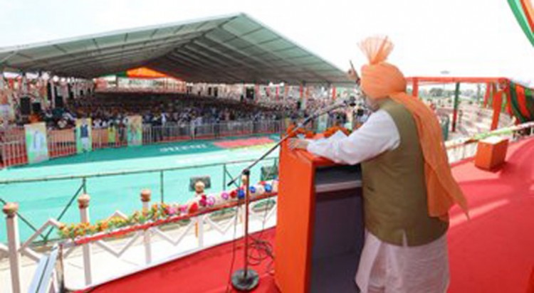 home minister's address at aastha rally in jind, haryana