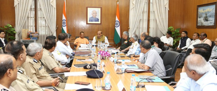 rajnath singh chairing the 1st apex committee meeting for defexpo 2020