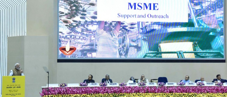 narendra modi addressing at the launch of the support and outreach initiative for msmes