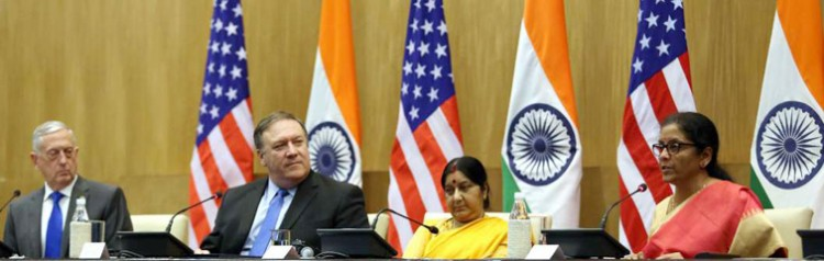 james mattis, michael r pompeo, sushma swaraj and nirmala sitharaman