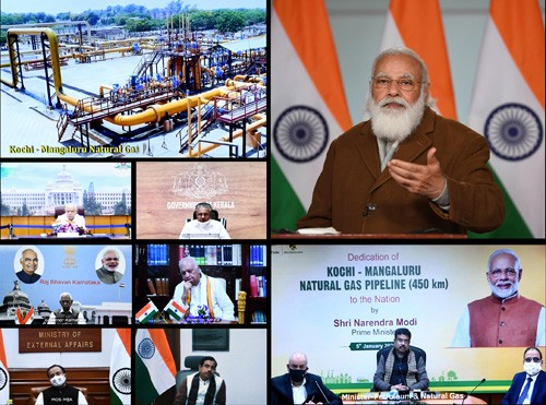 narendra modi dedication of the kochi-mangaluru natural gas pipeline to the nation