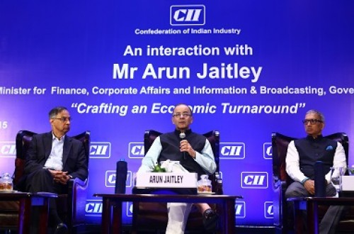 arun jaitley in cii, vision, interactive session