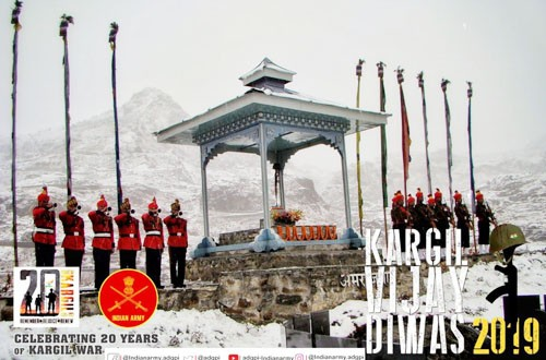 celebration of victory in kargil war in india