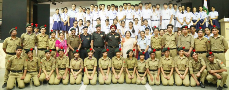major general r.s. mann, adg ncc with cadets