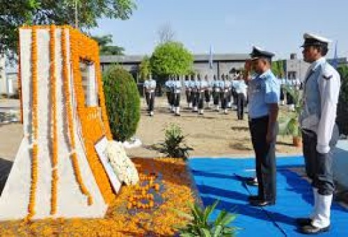 indian air force paying tribute to late squadron leader ajay ahuja