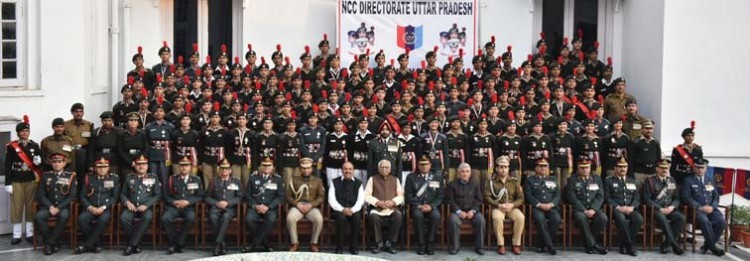 honor of ncc cadets in raj bhavan